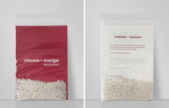 Convite Casamento arroz