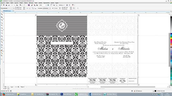 Fazer Convite Casamento Corel Draw