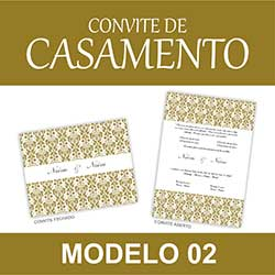 Modelo Convite Casamento Clássico Editável Word