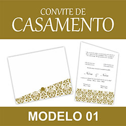 Convite Casamento Modelo 01