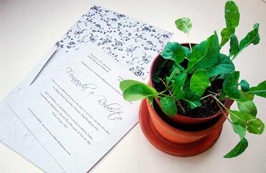 Convite Casamento Ecológico