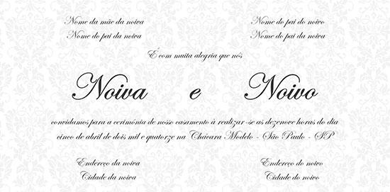 Dicas Convite Casamento