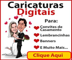 Caricaturas Digitas Convites Casamento