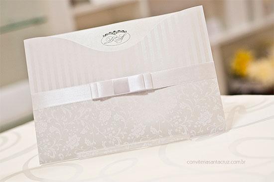 Convite Casamento Branco