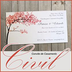 Convite Casamento Civil