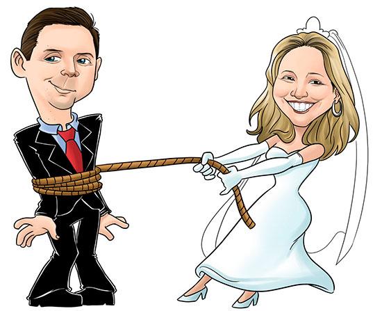 Convite Casamento Caricatura