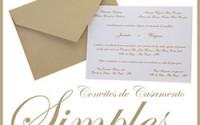 Convites Casamento Simples