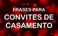 Frases Convite Casamento