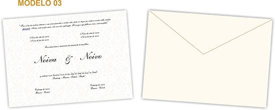 Modelo de convite de casamento 3