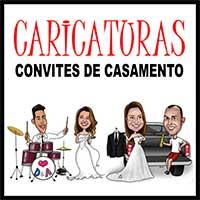 Caricaturas Convites Casamento