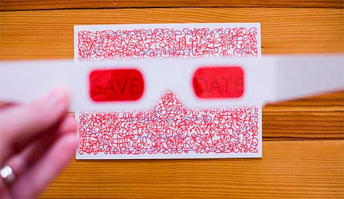 Modelo Convite 3D Letras Embaralhadas