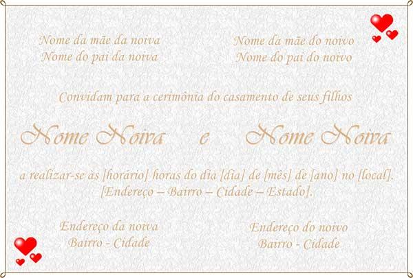 Convite Casamento Photoscape