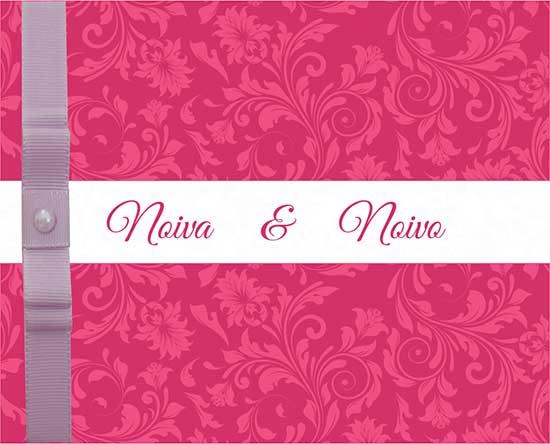 Modelo Convite Casamento Florais