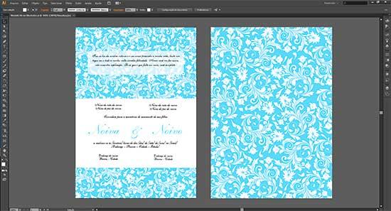 Convite Casamento Illustrator