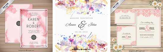 Convites Casamento Coloridos