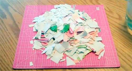 Papel picado fazer papel semente