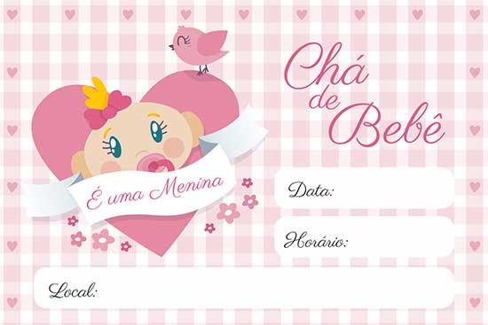 Convite Chá Bebê Menina