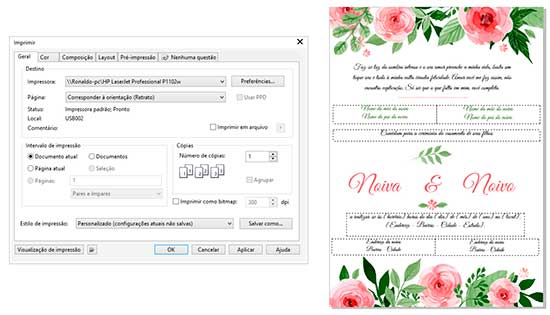 Imprimir Convite Casamento Corel Draw