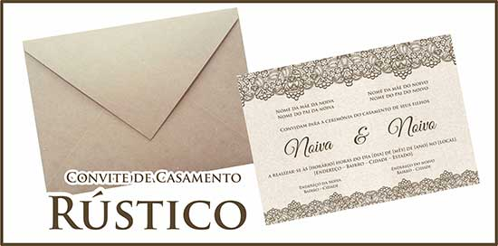 Convite Casamento Rústico Download