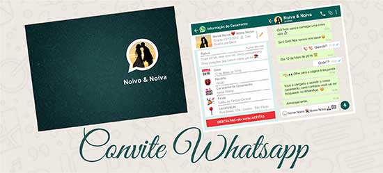 Layout convite casamento Whatsapp