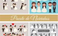 Pacote Noivinhos Convite de Casamento