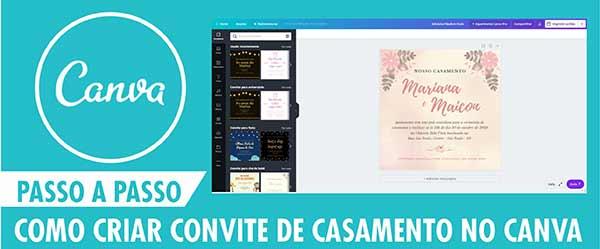 Criar Convite Casamento Online Grátis Canva